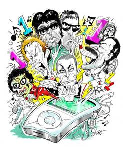 iPod Chart Cartoon